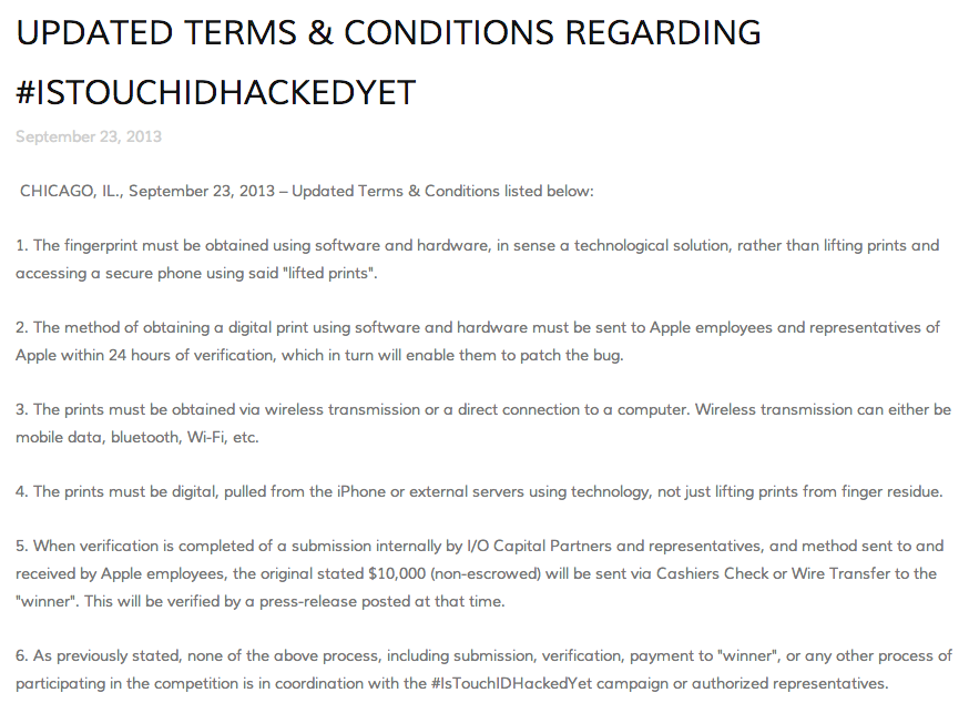 UPDATED TERMS & CONDITIONS REGARDING