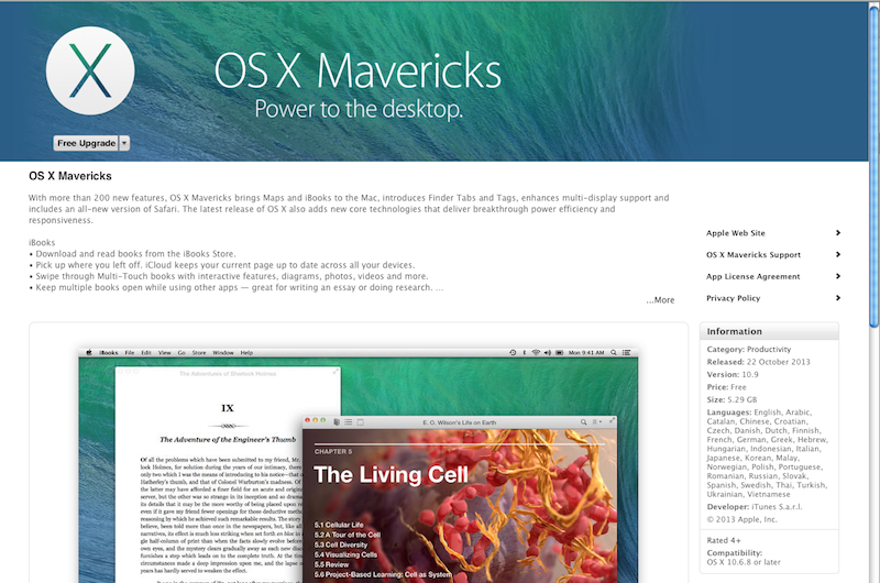 OS X Mavericks - Power to the desktop